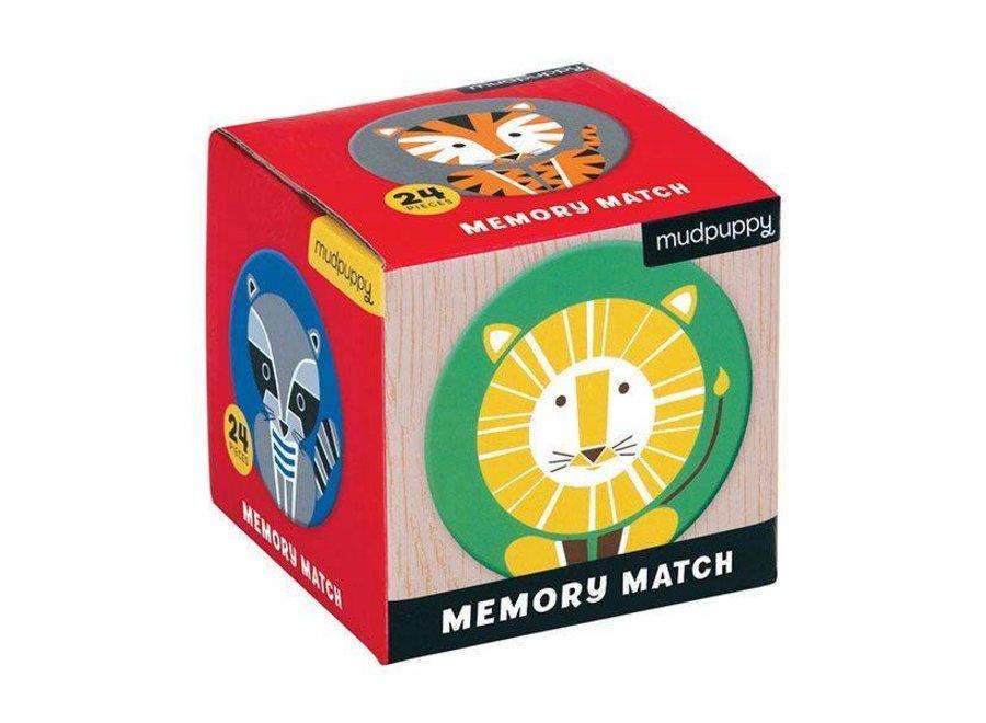 Mudpuppy    Mini Memory Spel  -  Geometric Animals