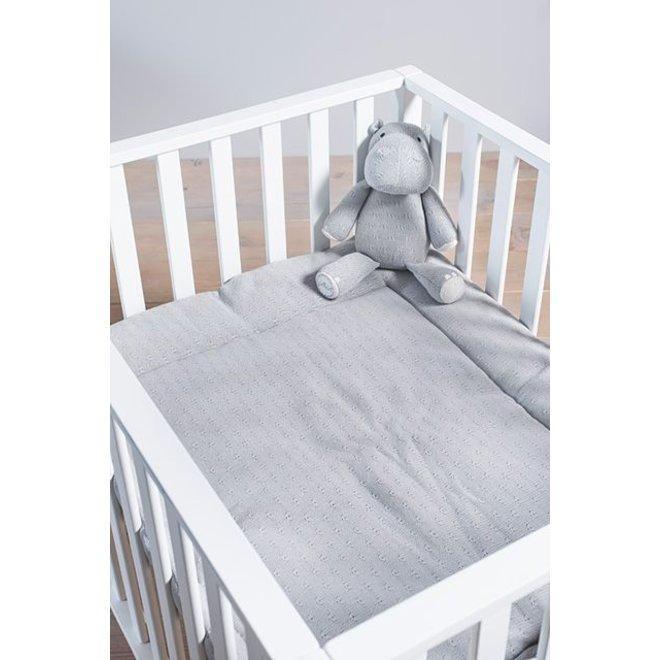 Knuffel Hippo / Nijlpaard - Light Grey   Jollein