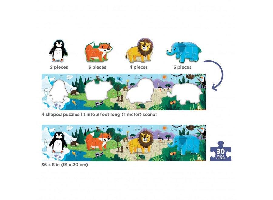 Mudpuppy |  Extra Lange Puzzel - Animals of the World
