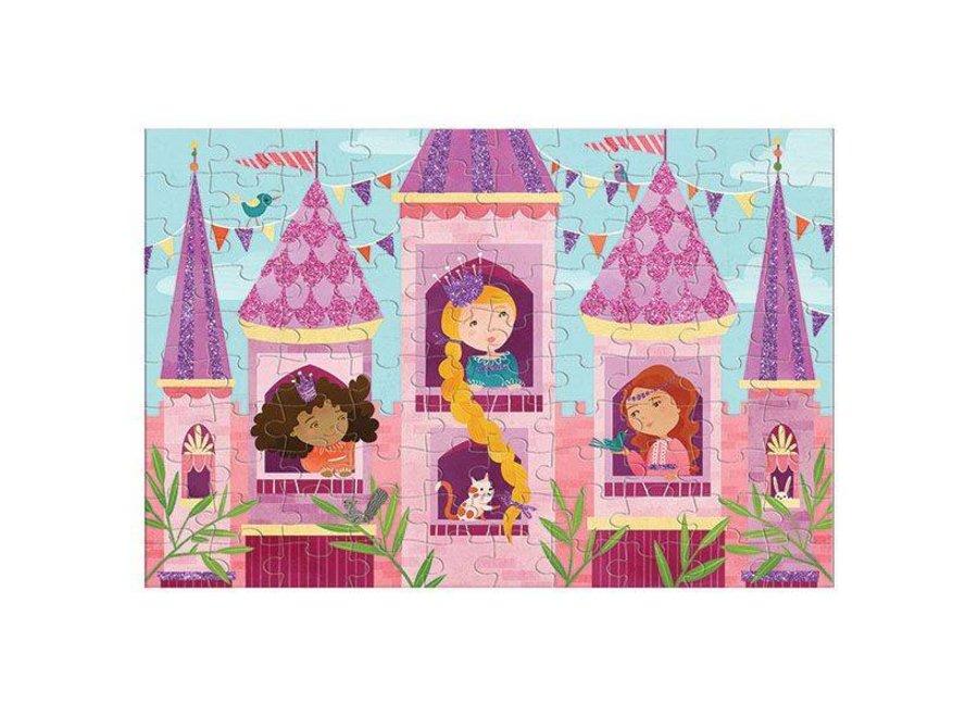 Mudpuppy | Glitter Puzzel - Prinsessen
