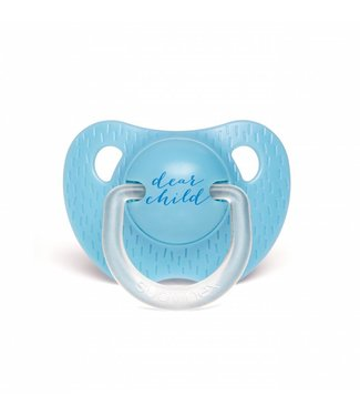 Anatomische Fopspeen Meaningfull in Silicone (6-18m) - Light Blue Child  | Suavinex