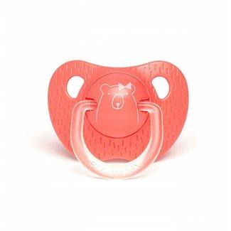 Anatomische Fopspeen Meaningfull in Silicone (+18m) - Dark Pink Bear | Suavinex