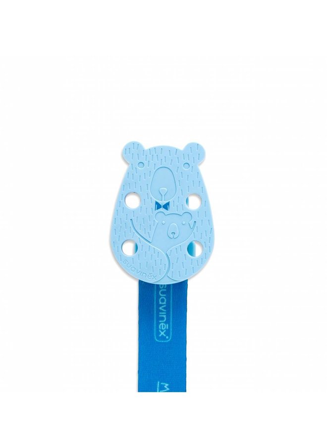 Fopspeenketting Meaningfull - Bear Blue | Suavinex