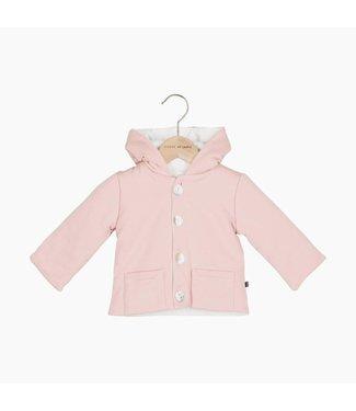 House of Jamie Bow Tie Hooded Jacket - Powder Pink | House of Jamie