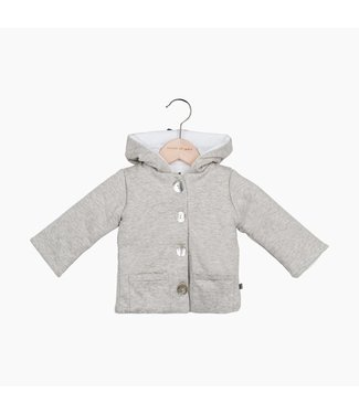 House of Jamie Bow Tie Hooded Jacket - Stone | House of Jamie