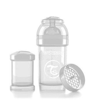 Twistshake Drinkflesje Antikoliek 180 ml - Wit   Twistshake