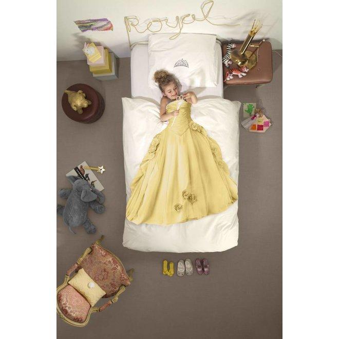 Eenpersoons Dekbedovertrek Prinses - Geel | Snurk