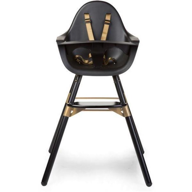 Kinderstoel Vanaf 4 Maanden.Childhome Evolu 2 Stoel Zwart Goud 2 In 1 Beugel Bestel