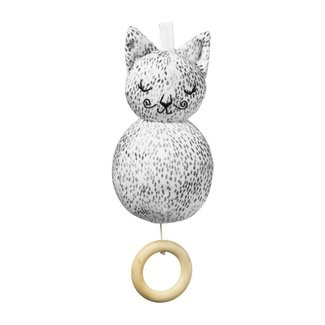 "Elodie Details Musical Toy - Muziekmobiel "" Dots of Fauna Kitty"" 