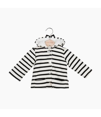 House of Jamie Bow Tie Hooded Jacket - Breton | House of Jamie