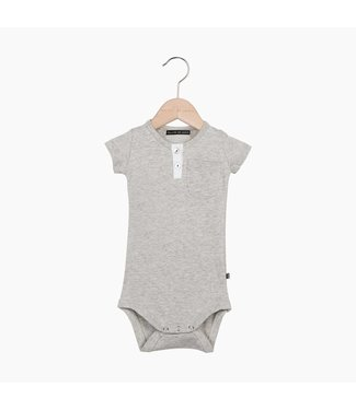 House of Jamie Button Bodysuit - Stone | House of Jamie