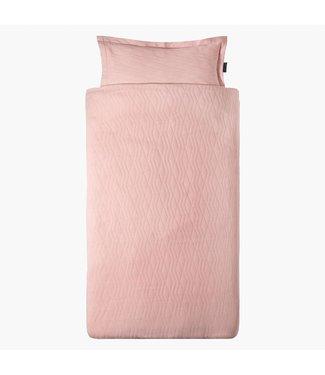 "House of Jamie Dekbedovertrek  ""Geometry Jacquard"" - Powder Pink | House of Jamie"
