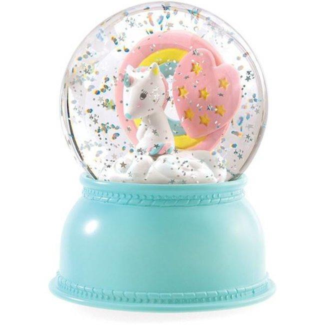 Nachtlampje en Sneeuwbol Unicorn   Djeco