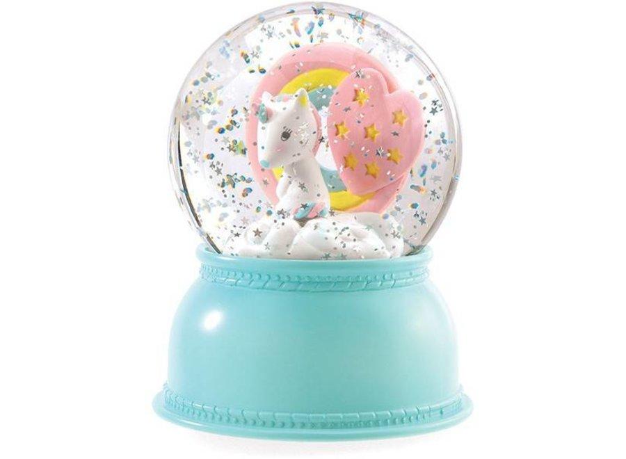 Nachtlampje en Sneeuwbol Unicorn | Djeco