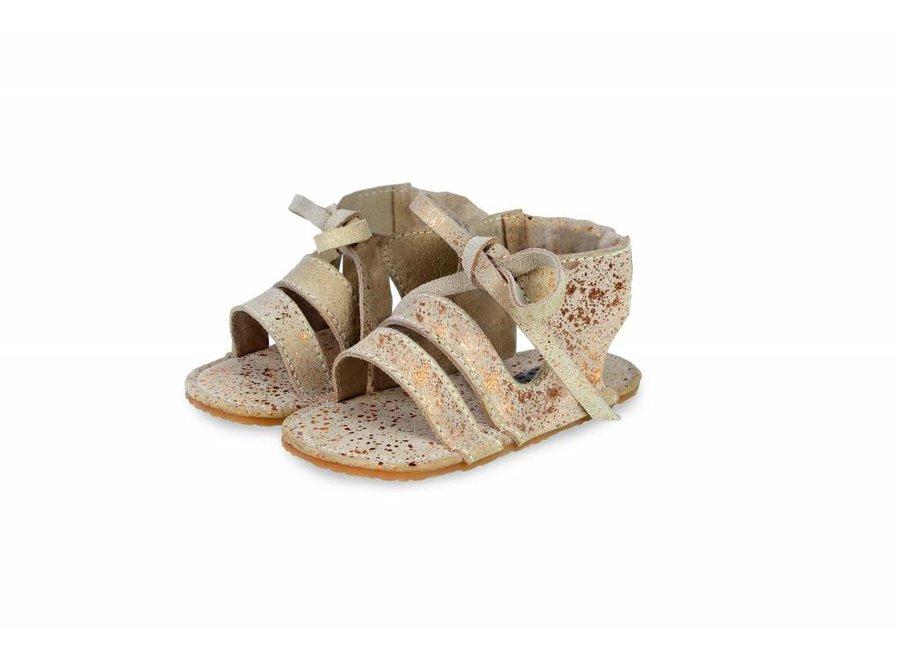 "Sandaaltjes Pom ""Cream Metallic"" | Donsje"