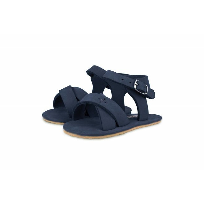 "Sandaaltjes Giggles ""Navy Nubuck"" | Donsje"