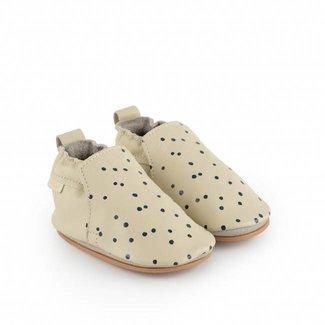 "Boumy Babyschoentjes Hagen Dot  ""Cream Leather"" | Boumy"
