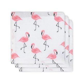 Jollein Set van 3 Hydrofiele Monddoekjes - Flamingo   Jollein