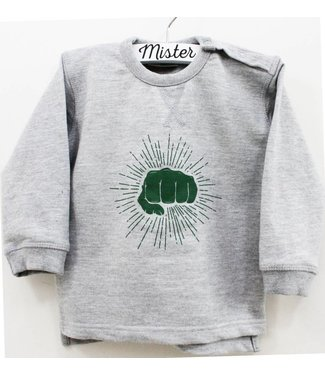 Mister Monsieur Vuistje Sweater Kids