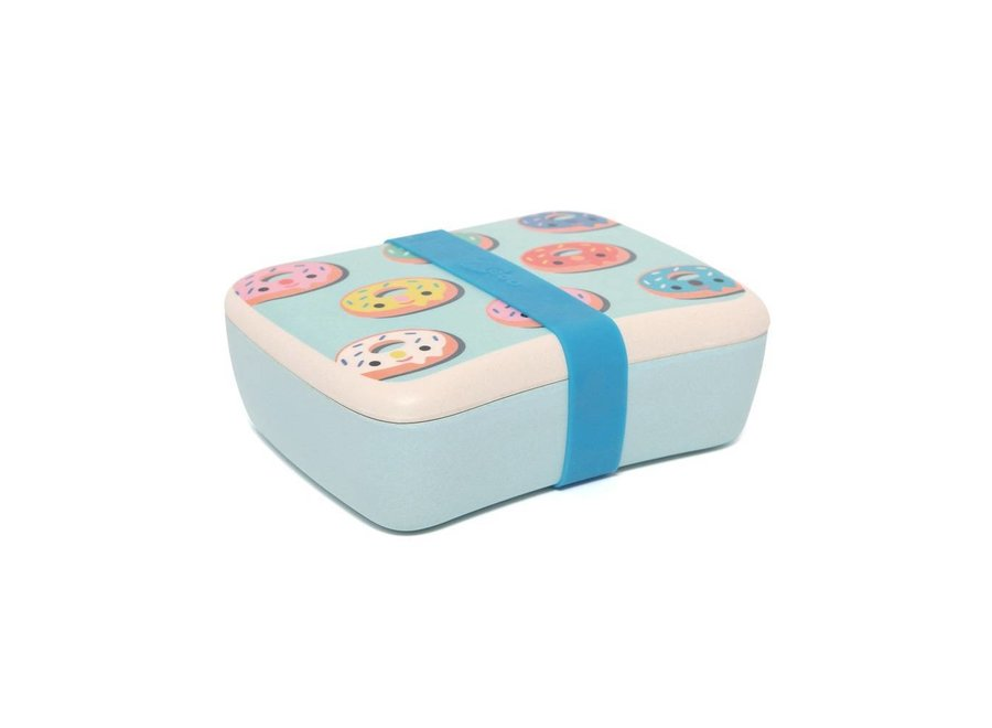 Lunchbox Bamboo Donuts blue | Petit Monkey