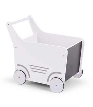 Childhome Houten Loopwagen Wit  |  Childhome