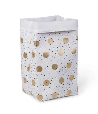 Childhome Canvas Opbergmand Gold Dots | Childhome