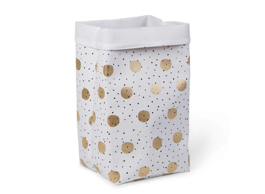 Canvas Opbergmand Gold Dots | Childhome