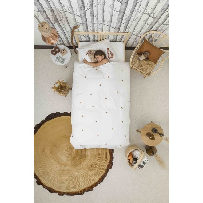 Flanellen Dekbedovertrek Furry Friends | Snurk