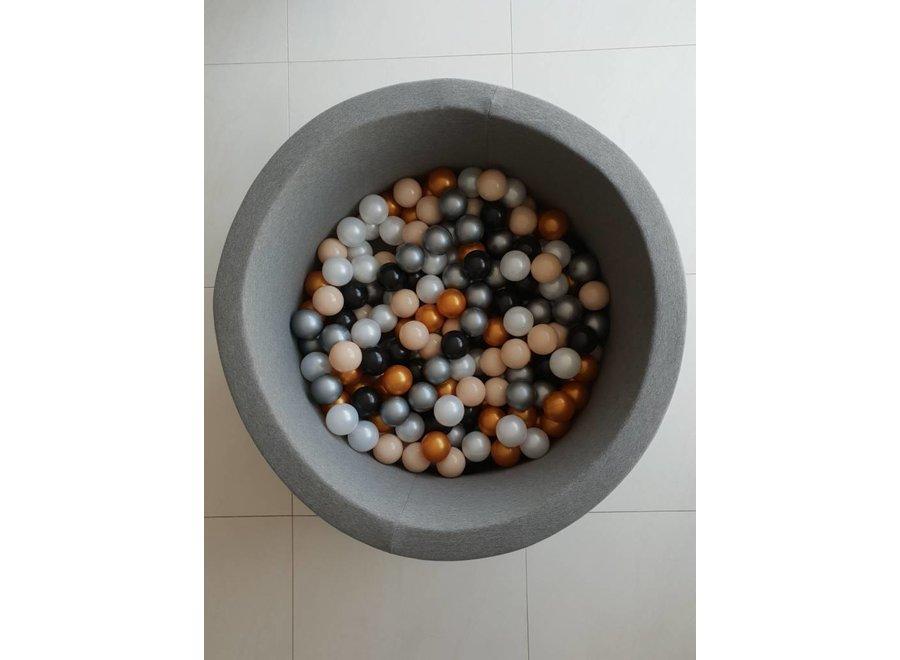 Ballenbad Donkergrijs XL + 200 ballen | MiiiMi