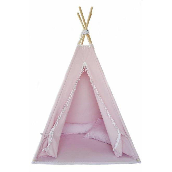 Tipi Tent Pink met vloermatras en kussens | Miiimi