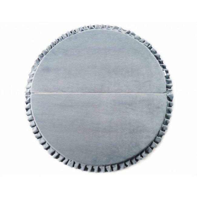 Velvet speelmat Grijs 105cm - Rond | Miiimi