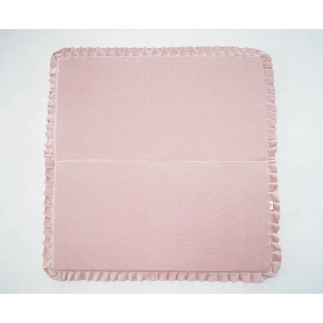 Velvet speelmat Roze 105cm - Vierkant | Miiimi