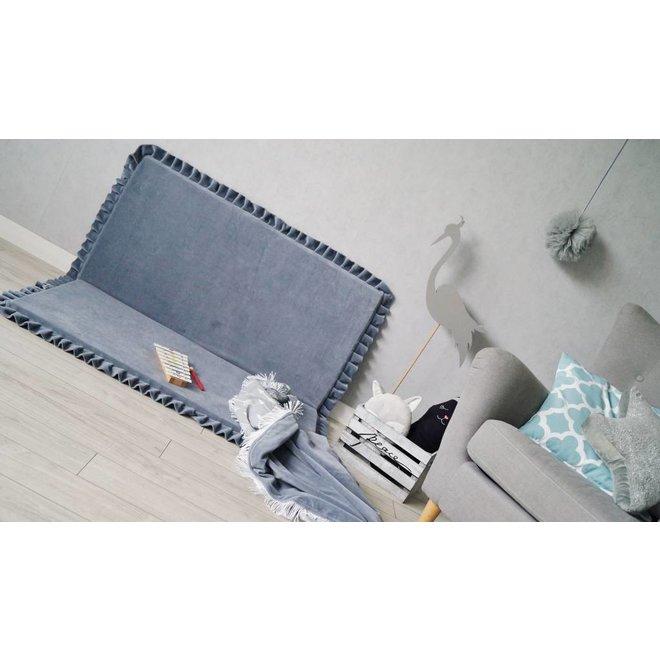 Velvet speelmat Grijs 105cm - Vierkant | Miiimi