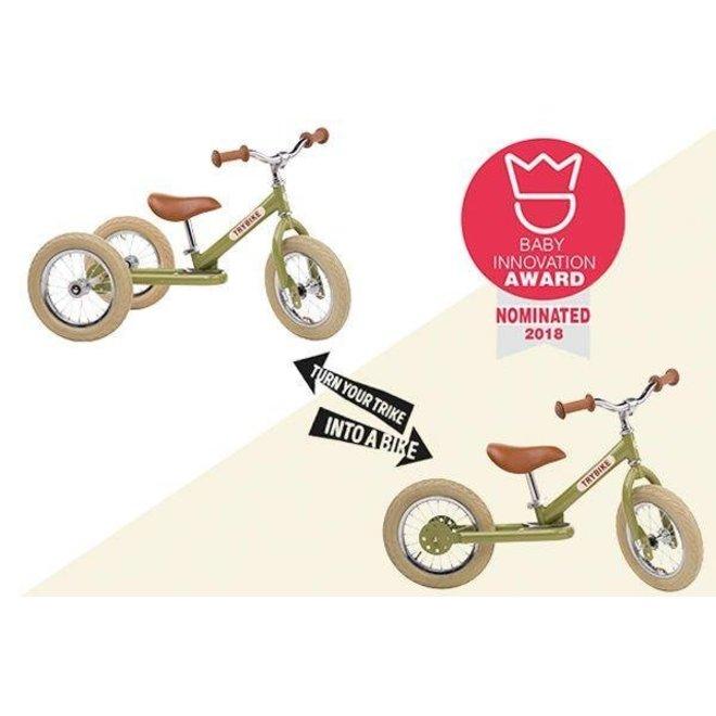 Trybike Steel loopfiets - Vintage Green | Trybike