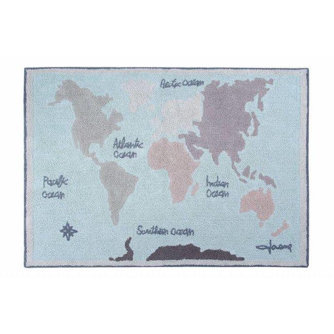 Tapijt Vintage Map 140x200 cm | Lorena Canals