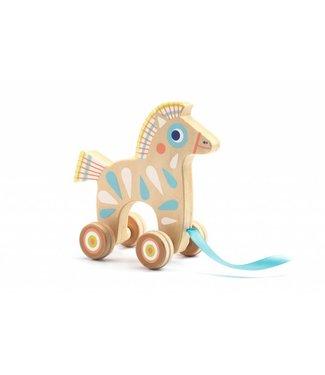 Djeco Trekdier hout paard| Djeco