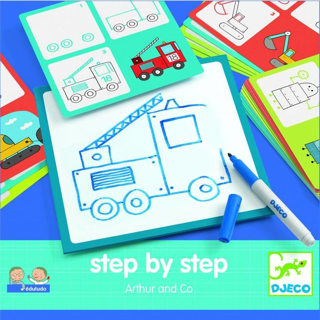 Step by step tekenset Arthur & Co | Djeco