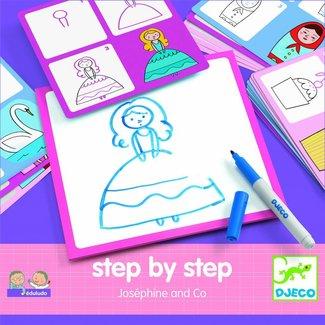 Djeco Step by step tekenset Joséphine & Co   Djeco