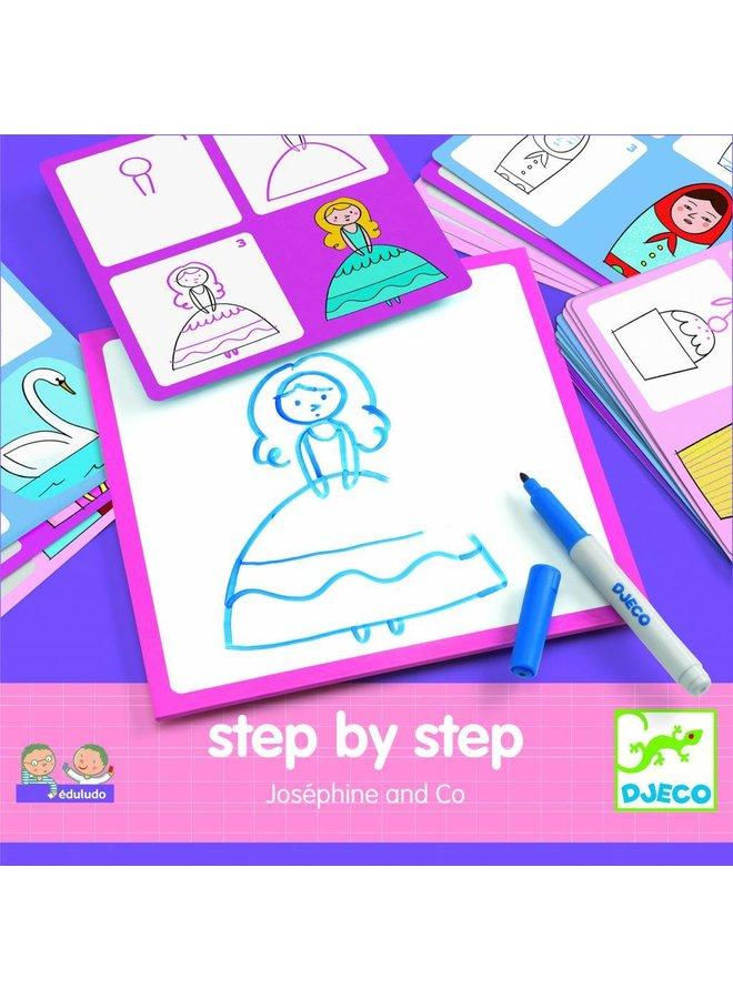 Step by step tekenset Joséphine & Co   Djeco