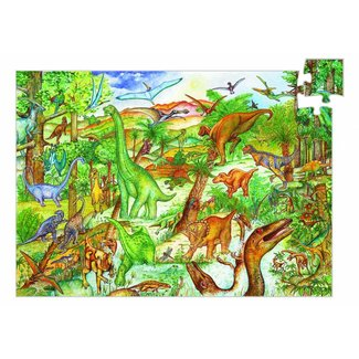 Djeco Leerrijke Puzzel 'Dinosaurus'  100st.  Djeco