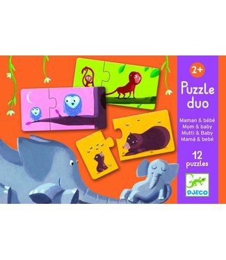 Djeco Duo-Puzzel  'Mama & Baby'  | Djeco