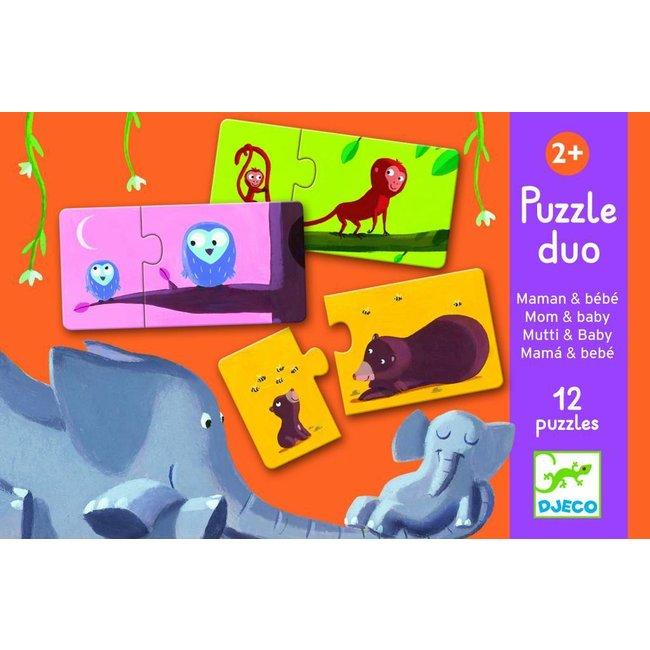 Duo-Puzzel  'Mama & Baby' | Djeco