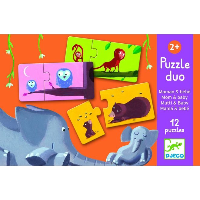 Duo-Puzzel  'Mama & Baby'    Djeco