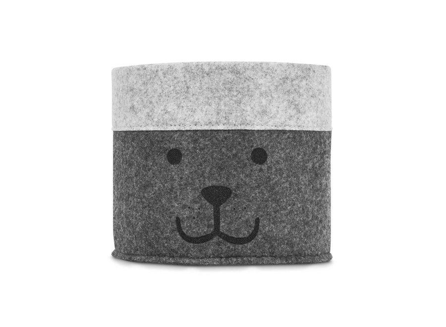"""Opbergmand """"Little Bear Grey""""   Jollein"""