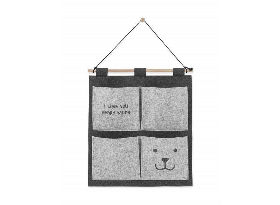 Wandorganizer  Bear Grey | Jollein
