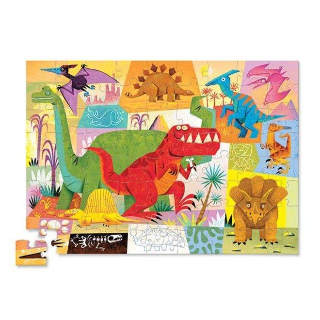 Puzzel Dinosauriër 72 pcs | Crocodile Creek