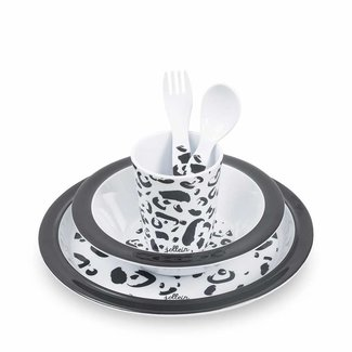 Jollein Dinnerset Bamboe Leopard   Jollein