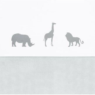 Jollein Laken 120 x 150 cm Safari Stone Grey | Jollein