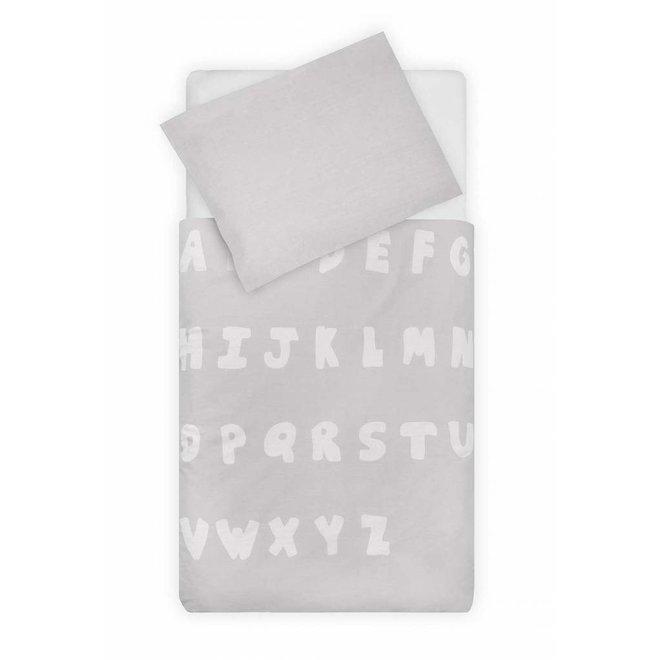 Dekbed en Sloop 140 x 200 cm Soft Grey | Jollein