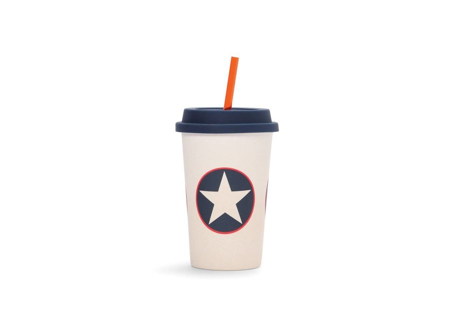 "Bamboe Drinkbeker ""Navy Star"" | Penny Scallan"